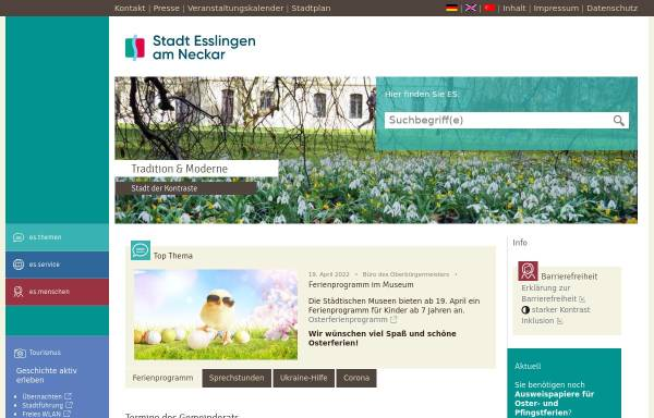 Vorschau von www.forum-esslingen.de, Forum Esslingen - Zentrum für Bürgerschaftliches Engagement