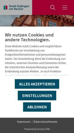 Vorschau der mobilen Webseite www.forum-esslingen.de, Forum Esslingen - Zentrum für Bürgerschaftliches Engagement