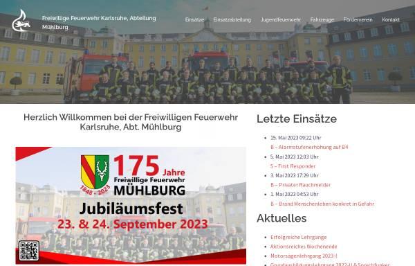 Vorschau von ff-muehlburg.de, Freiwillige Feuerwehr Karlsruhe - Abteilung Mühlburg