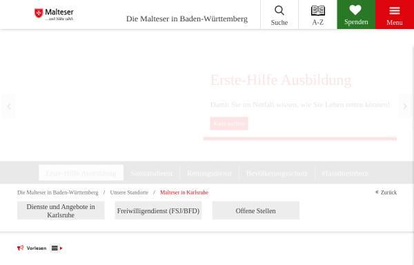 Vorschau von www.malteser-karlsruhe.de, Malteser Hilfsdienst e.V.