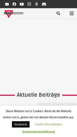 Vorschau der mobilen Webseite cvjm-linkenheim.de, CVJM Linkenheim