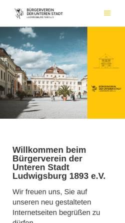 Vorschau der mobilen Webseite bv-untere-stadt.de, Bürgerverein der Unteren Stadt Ludwigsburg