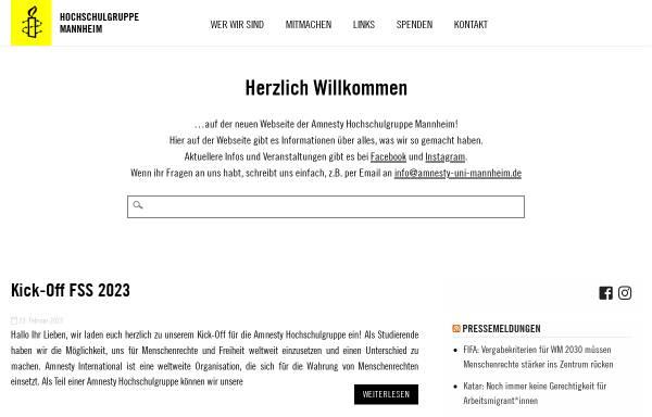 Vorschau von www.amnesty-uni-mannheim.de, amnesty international Hochschulgruppe Mannheim