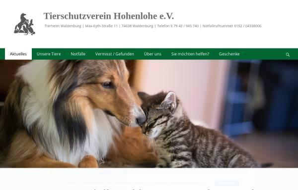 Vorschau von www.tierschutzverein-oehringen.de, Tierschutzverein Öhringen und Umgebung e.V.