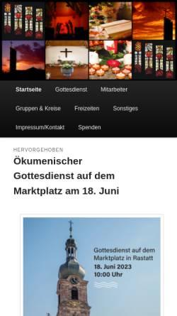 Vorschau der mobilen Webseite www.petrusgemeinde-rastatt.de, Evangelische Petrusgemeinde Rastatt