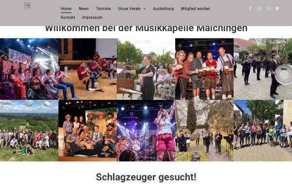 Vorschau von www.musikkapelle-maichingen.de, Musikkapelle Maichingen