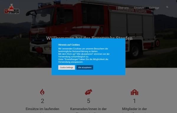 Vorschau von www.feuerwehr-staufen.de, Feuerwehr Staufen