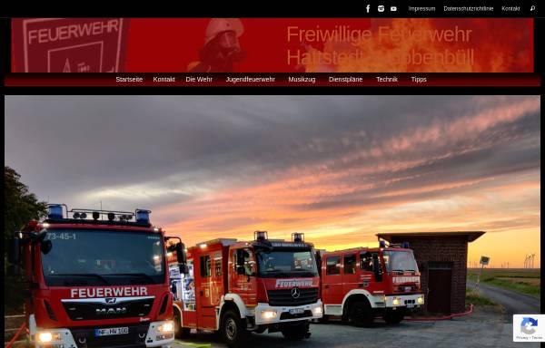 Vorschau von www.feuerwehr-hattstedt.de, Freiwillige Feuerwehr Hattstedt-Wobbenbüll