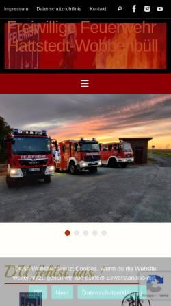 Vorschau der mobilen Webseite www.feuerwehr-hattstedt.de, Freiwillige Feuerwehr Hattstedt-Wobbenbüll