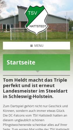 Vorschau der mobilen Webseite www.tsvhattstedt.de, TSV Hattstedt
