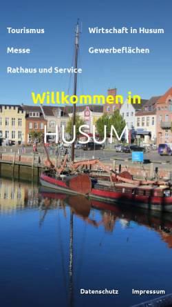 Vorschau der mobilen Webseite www.husum.org, Stadt Husum