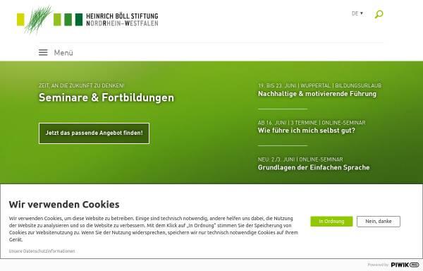 Vorschau von www.boell-nrw.de, Heinrich Böll Stiftung NRW
