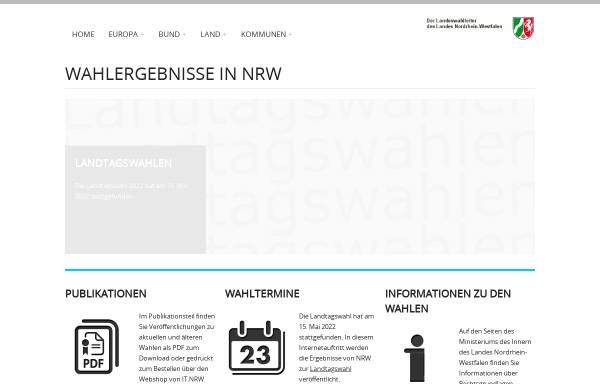 Vorschau von www.wahlergebnisse.nrw.de, Die Landeswahlleiterin des Landes Nordrhein-Westfalen