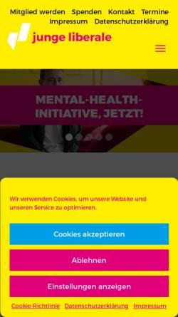 Vorschau der mobilen Webseite www.julis.de, Julis - Junge Liberale