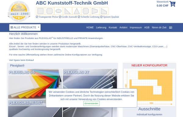 Vorschau von www.acrylglas.ch, ABC Kunststoff-Technik GmbH