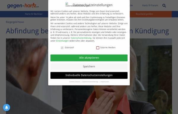 Vorschau von www.gegen-hartz.de, gegen-hartz.de