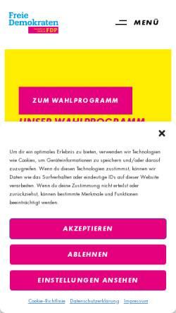 Vorschau der mobilen Webseite www.fdp-flensburg.de, FDP Flensburg