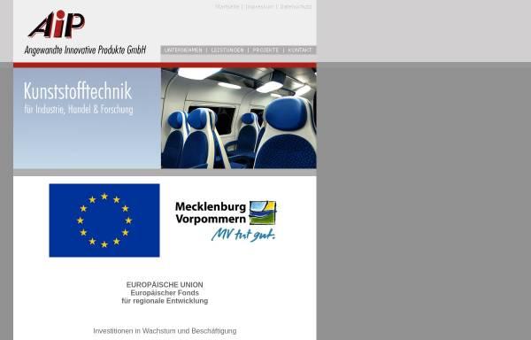 Vorschau von www.aipkunststoff.de, AIP - Angewandte Innovative Produkte GmbH