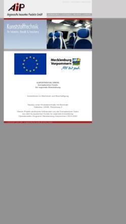 Vorschau der mobilen Webseite www.aipkunststoff.de, AIP - Angewandte Innovative Produkte GmbH