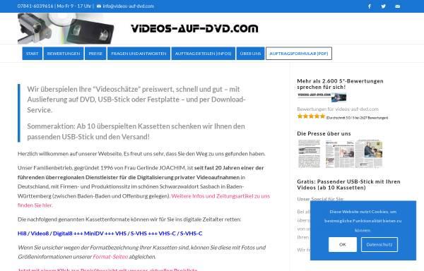 Vorschau von www.vhs-auf-dvd.com, VHS auf DVD, Gerlinde Joachim
