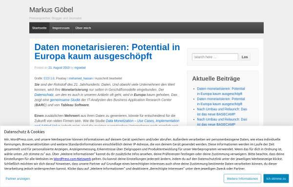 Vorschau von mgoebel.wordpress.com, Göbel, Markus