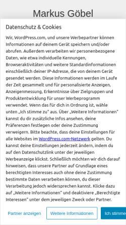 Vorschau der mobilen Webseite mgoebel.wordpress.com, Göbel, Markus