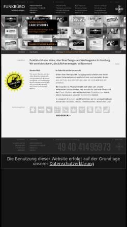 Vorschau der mobilen Webseite funkbuero.de, Funkbüro Medien & Gestaltung GmbH