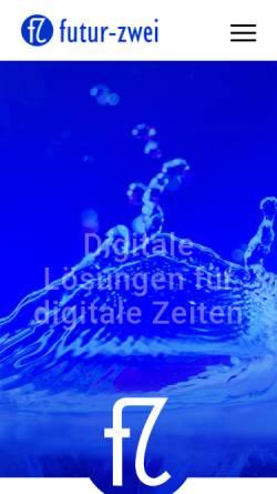Vorschau der mobilen Webseite www.futur-zwei.de, futur-zwei GmbH