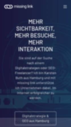 Vorschau der mobilen Webseite www.kabelwelten.de, Kabelwelten Internetagentur, Karsten Buth