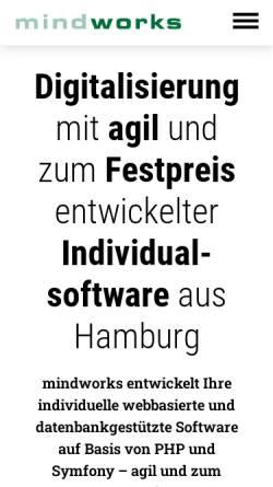 Vorschau der mobilen Webseite www.mindworks.de, mindworks GmbH