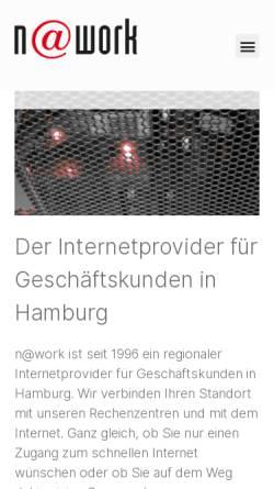 Vorschau der mobilen Webseite www.work.de, N@work Internet Informationssysteme GmbH
