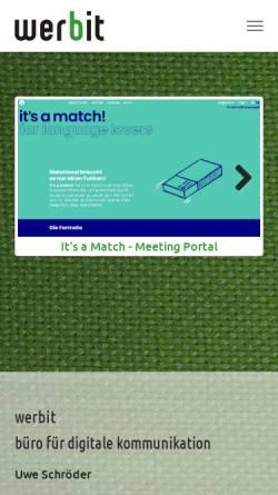 Vorschau der mobilen Webseite www.werbit.de, Werbit