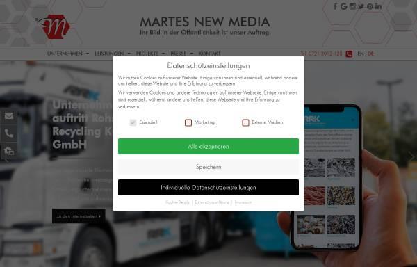 Vorschau von www.martes.de, Martes New Media