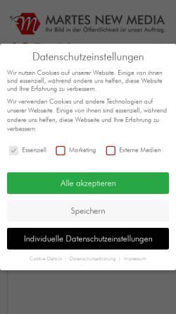 Vorschau der mobilen Webseite www.martes.de, Martes New Media