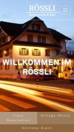 Vorschau der mobilen Webseite www.restaurant-roessli.ch, Restaurant Rössli - Cavallino