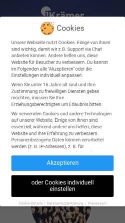 Vorschau der mobilen Webseite www.kraemer-it.de, Krämer IT Solutions GmbH