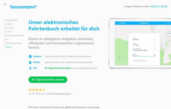 Vorschau von www.fahrtenbuch.de, Fahrtenbuch.de by Dipl.-Ing. Mey Mark Meyer