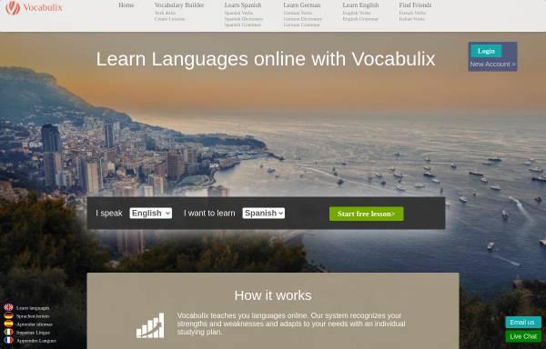 Vorschau von www.vocabulix.com, Vocabulix Vokabeltrainer