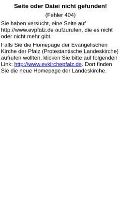 Vorschau der mobilen Webseite www.evpfalz.de, Bibliothek und Medienzentrale der Evangelischen Kirche der Pfalz