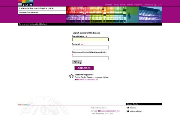 Vorschau von www.uni-kiel.de, Systematik: Theologie und Religionswissenschaft