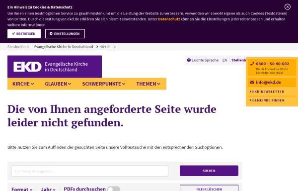 Vorschau von www.ekd.de, Verband kirchlich-wissenschaftlicher Bibliotheken