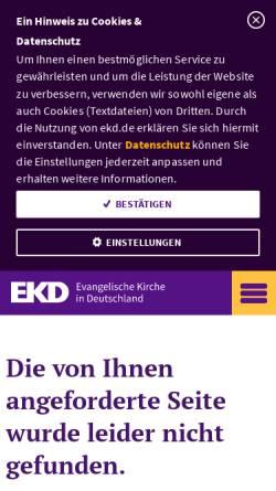 Vorschau der mobilen Webseite www.ekd.de, Verband kirchlich-wissenschaftlicher Bibliotheken