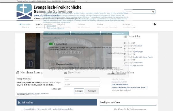 Vorschau von efg-schwuelper.de, Evangelisch-Freikirchliche Gemeinde Schwülper