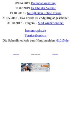 Vorschau der mobilen Webseite www.flyball-hessen.de, Flyball Hessen