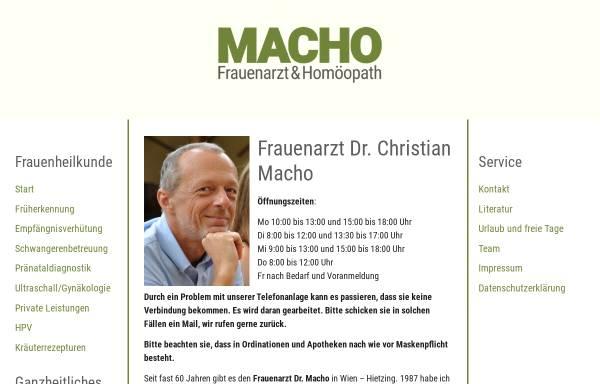 Vorschau von www.frauenarzt-dr-macho.at, Dr. Christian Macho