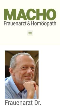 Vorschau der mobilen Webseite www.frauenarzt-dr-macho.at, Dr. Christian Macho