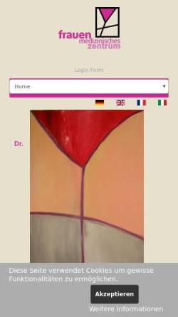 Vorschau der mobilen Webseite www.frauenmedizin.at, Dr. Kalmar