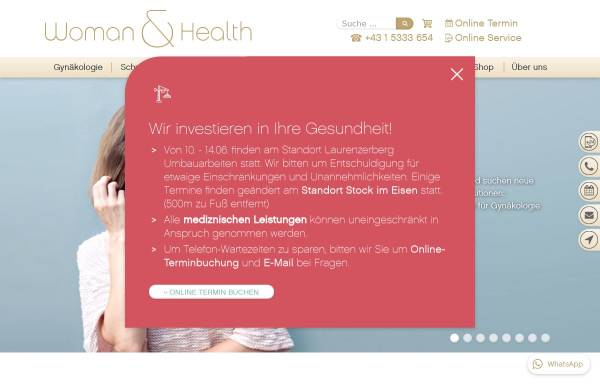 Vorschau von www.womanandhealth.com, Woman&Health