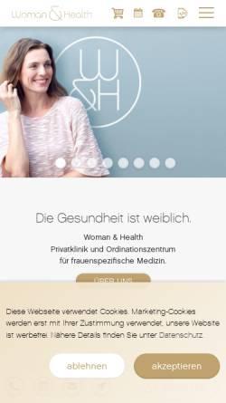 Vorschau der mobilen Webseite www.womanandhealth.com, Woman&Health
