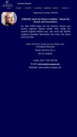 Vorschau der mobilen Webseite atelier-espace.de, Atelier Espace
